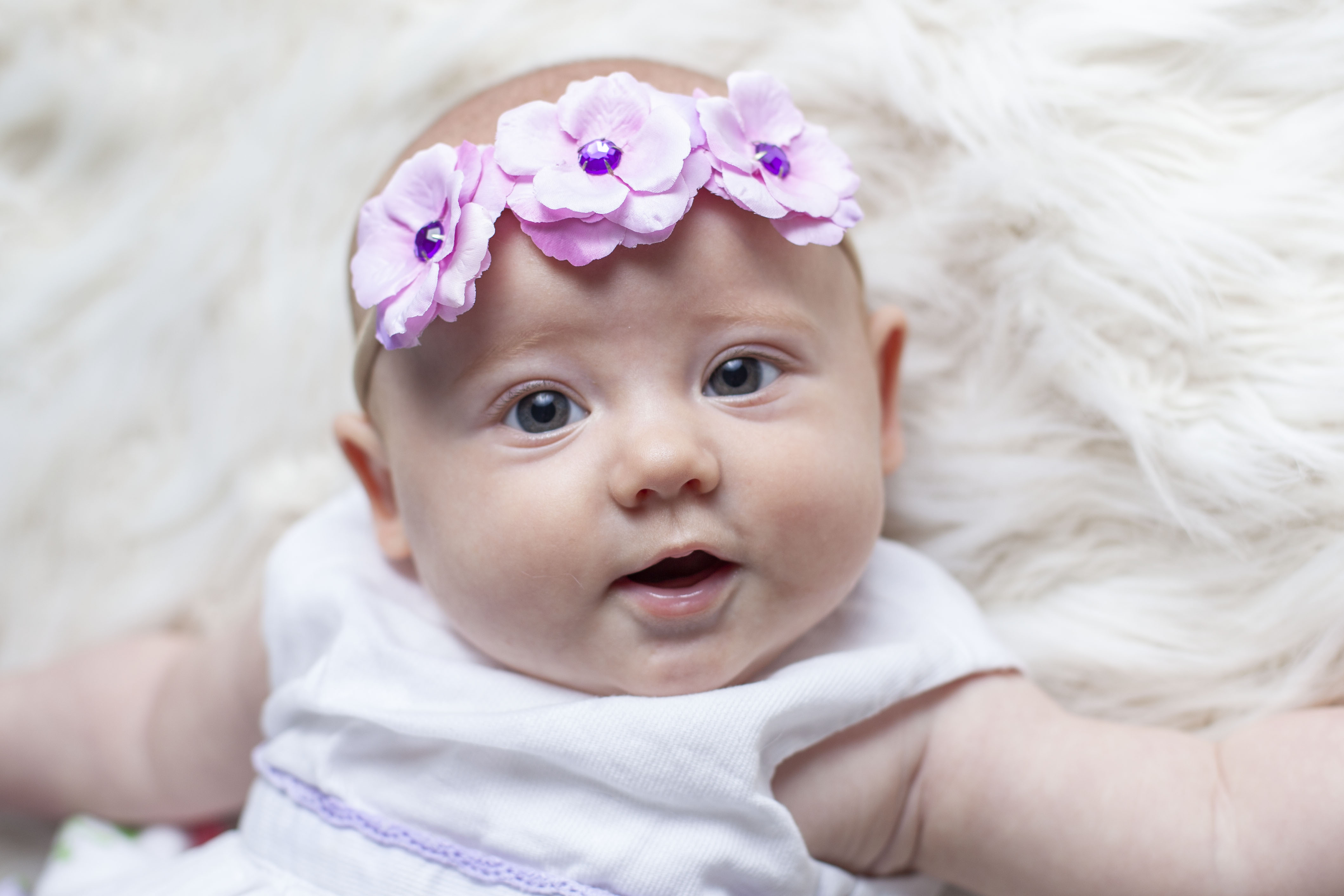Skyla Skinny Lavender Mini Rose Headband