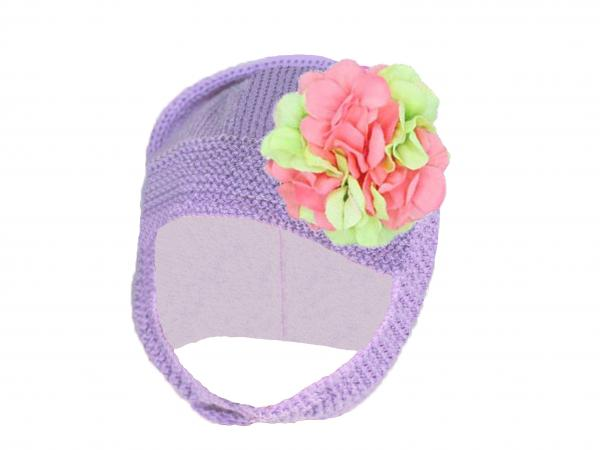 Lavender Blossom Bonnet with Pink Green Large Geraniums