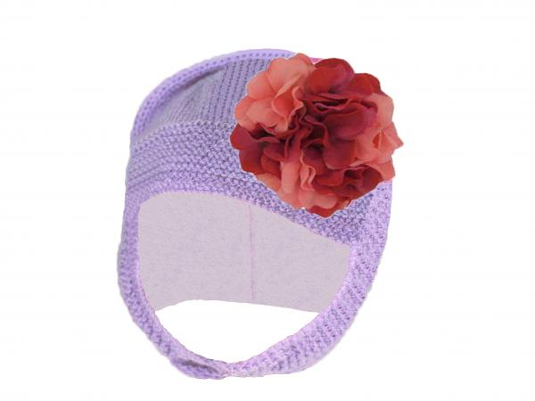 Lavender Blossom Bonnet with Pink Raspberry Large Geraniums