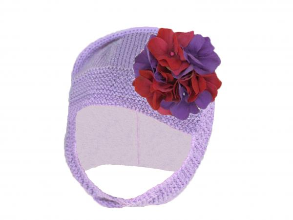 Lavender Blossom Bonnet with Purple Raspberry Large Geraniums