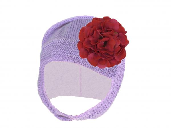 Lavender Blossom Bonnet with Raspberry Large Geraniums