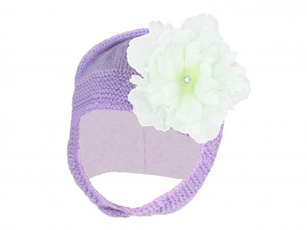 Lavender Blossom Bonnet with White Small Peony