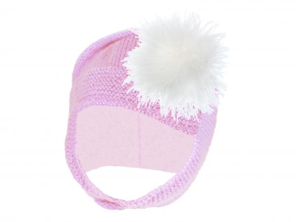 Pale Pink Blossom Bonnet with Cream Large regular Marabou