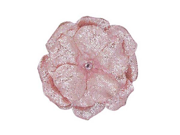 Sequins Pale Pink Bloom with Rose