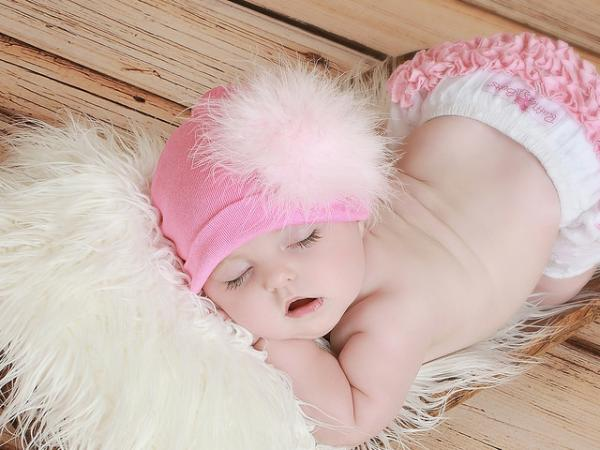 Candy Pink Cotton Hat with Pale Pink Large regular Marabou