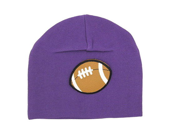 Purple Applique Hat with Football