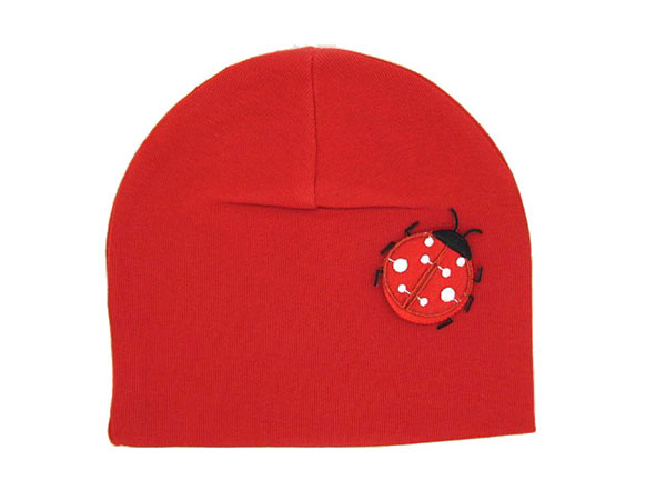 Red Applique Hat with Red Ladybug