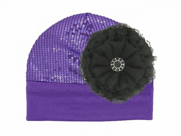 Purple Couture with Black Lace Rose
