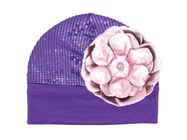 Purple Couture with Metallic Pale Pink Rose
