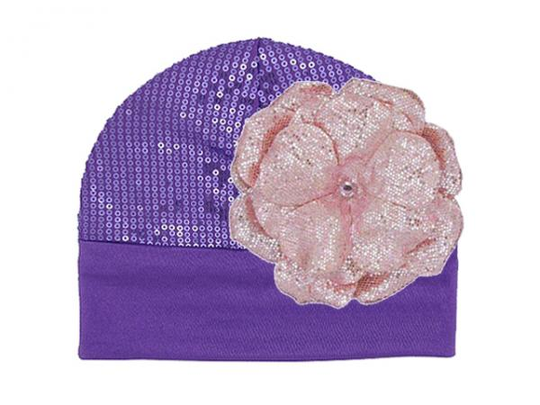 Purple Couture with Sequins Pale Pink Rose