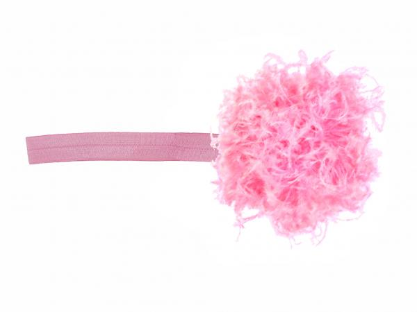 Candy Pink Flowerette Burst with Candy Pink Small Curly Marabou