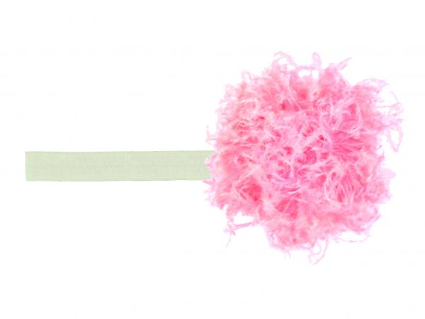 Cream Flowerette Burst with Candy Pink Small Curly Marabou