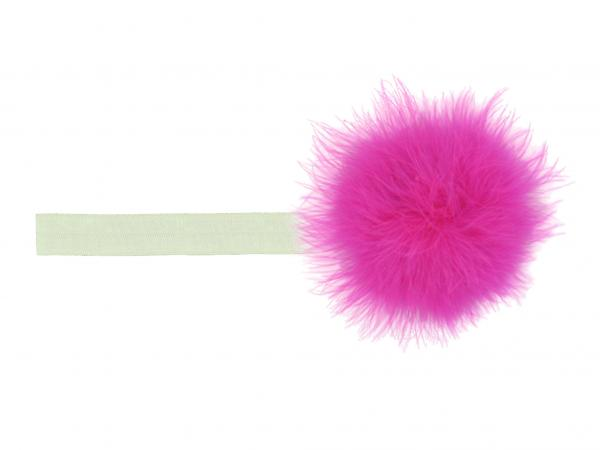 Cream Flowerette Burst with Raspberry Small Regular Marabou