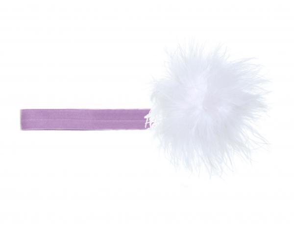 Lavender Flowerette Burst with White Small Regular Marabou