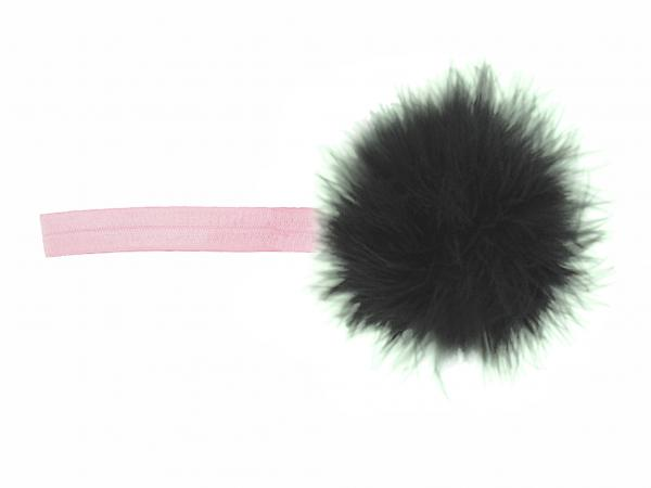 Pale Pink Flowerette Burst with Black Small Regular Marabou