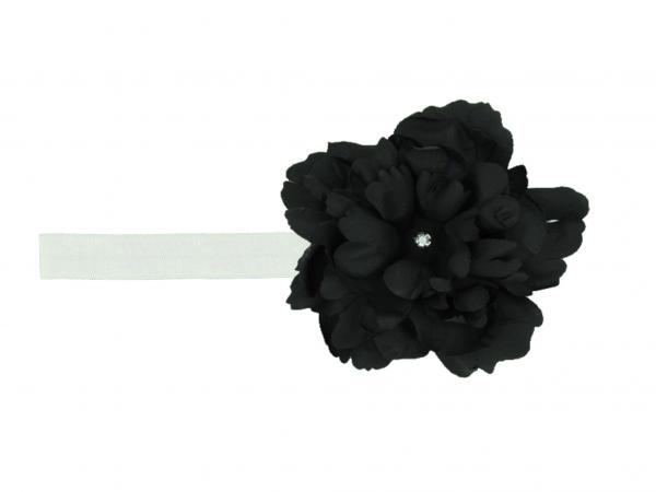White Flowerette Burst with Black Small Peony