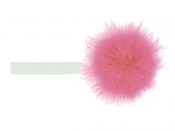 White Flowerette Burst with Candy Pink Small Regular Marabou
