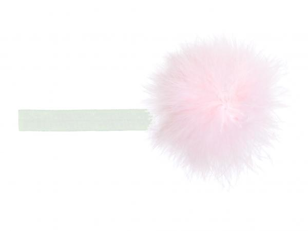 White Flowerette Burst with Pale Pink Small Regular Marabou