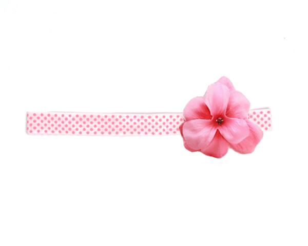 e2571422da8 Pale Pink Candy Pink Dot Flowerette with Candy Pink Mini Geraniums