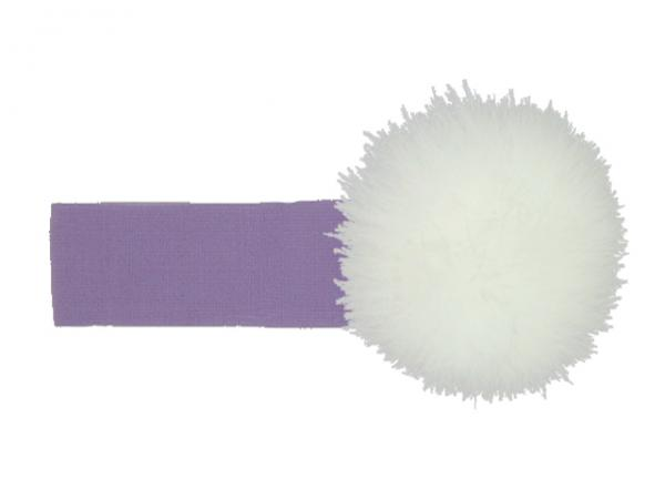 Lavender Soft Headband with White Small Regular Marabou