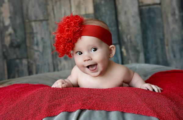 Red Soft Headband with Red Small Curly Marabou