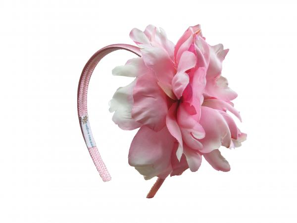 Candy Pink Hard Headband with Candy Pink Large Peony