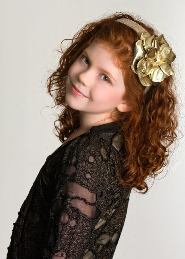 Sequins Gold Hard Headband with Metallic Gold Rose
