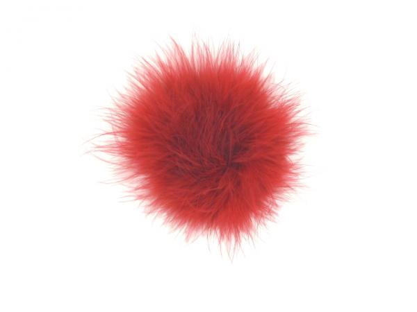 Red Plume with Red Large regular Marabou