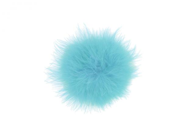 Teal Plume with Teal Large regular Marabou