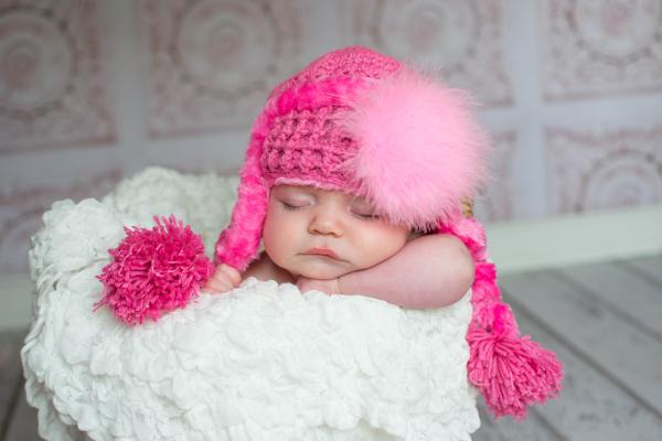 Candy Pink Winter Wimple Hat with Candy Pink Large regular Marabou