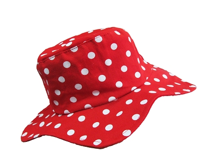 Red and White Dot Sun Hat