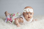 Skyla Skinny White Mini Rose Headband