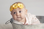 Skyla Skinny Yellow Mini Rose Headband