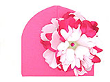 Candy Pink Cotton Hat with White Raspberry Large Peony