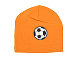 Orange Applique Hat with Soccer Ball