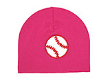 Raspberry Applique Hat with Baseball