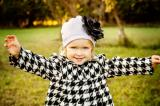 White Cotton Hat with Black Large Rose