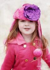 Raspberry Couture Winter Wimple with Sequins Purple Rose