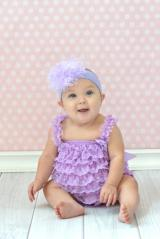 Lavender Soft Headband with Lavender Small Curly Marabou
