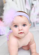 Lavender Soft Headband with Lavender Small Regular Marabou