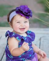 Lavender Soft Headband with Sequins Purple Rose