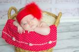 Red Soft Headband with Red Small Regular Marabou