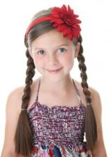 Red Hard Headband with Red Daisy