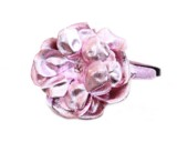 Sequins Pale Pink Hard Headband with Metallic Pale Pink Rose