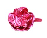 Sequins Raspberry Hard Headband with Metallic Raspberry Rose