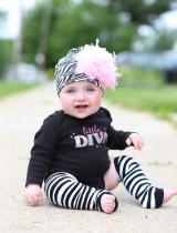 Black White Zebra Print Hat with Candy Pink Curly Marabou