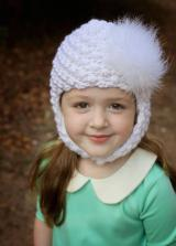 White Pretty Pixie Hat with White Large regular Marabou