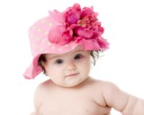 Candy Pink Aloe Dot Sun Hat with Raspberry Large Peony
