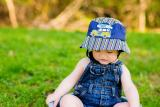 Navy Blue Sun Hat with Navy Blue Woody