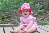 Raspberry Sun Hat with Pink Raspberry Daisy